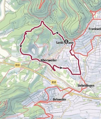 Karte / Pfälzer Rundwanderung mit Einkehr - Annahotel