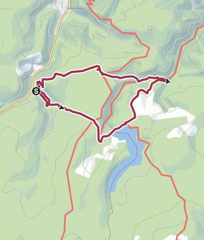 Karte / Grenzübergang Eckertalsperre