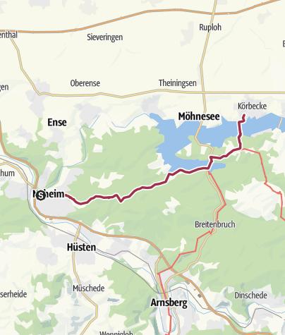 Karte / P 06 Neheim - Körbecke (Möhnesee) [Do 20.4.17]