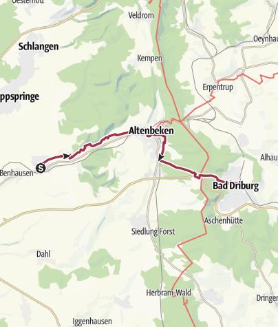 Karte / P 10 Neuenbeken - Driburg [Mo 24.4.17]