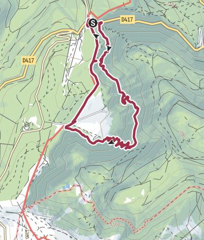 Karte / Sentier des Roches: Der Felsenpfad in den Vogesen