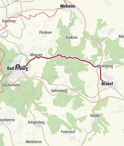 Karte / P 11  Bad Driburg -  Brakel [Di 25.4.17]