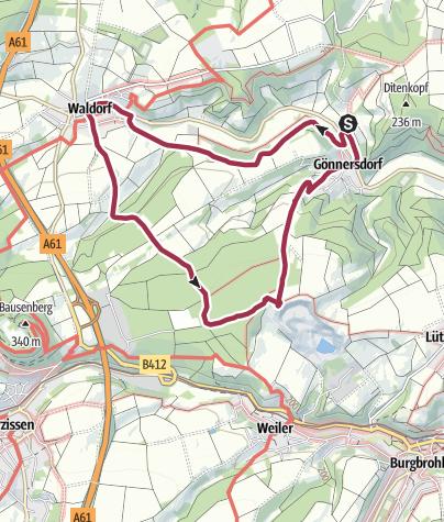 Karte / Waldorf (Kreis Ahrweiler) Rundweg 10 - mit Hunden