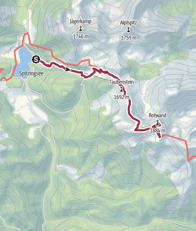 מפה / Spitzingsee - Rotwand