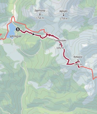 Mapa / Spitzingsee - Rotwand