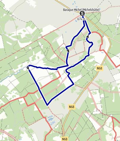 Karte / Um das Poulleur-Venn