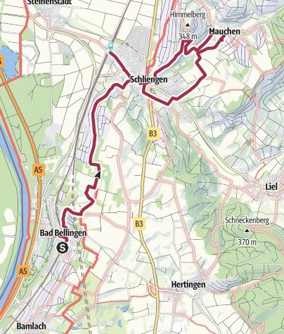 Karte / WeinWanderweg 11. Oktober 2016e