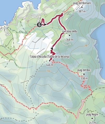 Karte / Erimita de la Victoria - Talaia d'Alcudia