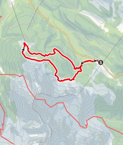 Karte / Passo Monte Croce Comelico - Prati di Corda Rossa e ritorno