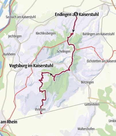 Karte / Kaiserstuhlpfad
