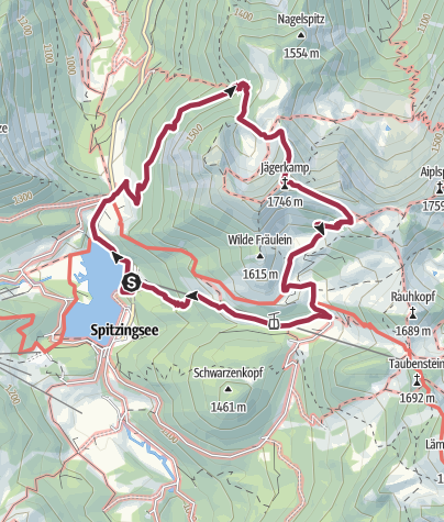 Karte / 16.10.2016 - Spitzingsattel zum Jägerkamp