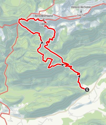 Map / Benediktenwand - Rundtour aus der Jachenau