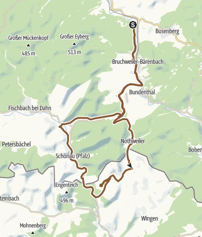 Karte / 2-Länder-Tour Pfalz/Nordvogesen