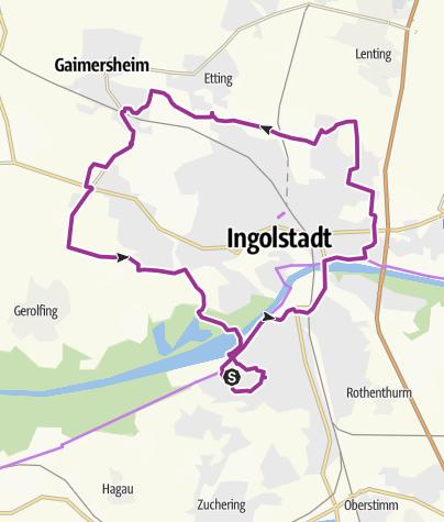 Karte / 18.10.2016 Letzte Radtour der Ingoradler zum Möbelhaus Gruber