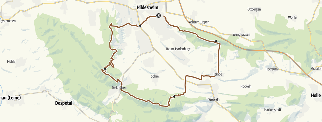 Kartta / Fünf Berge Tour
