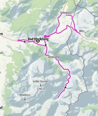 Karte / Rennrad Oberallgäu 5: Bad Hindelanger Ortsteilrunde
