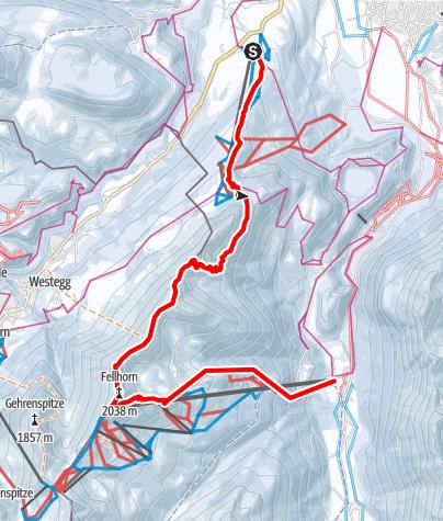 Karte / Vom Söllereck zur Fellhornbahn