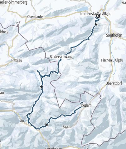 Karte / Expedition Allgäuer Alpen