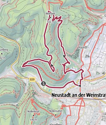 Karte / Wander-Glühen - der Wandertipp des Pfalzclub Magazin Winter 2016/2017