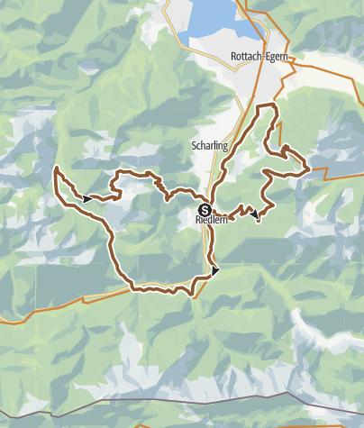 Karte / Hirschbergtrail und Wallgautrail Kombi