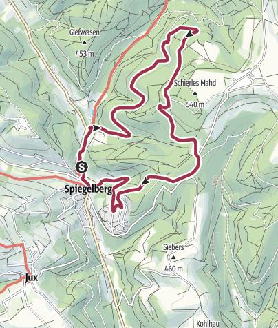 Karte / Spiegelberg Glaswanderweg