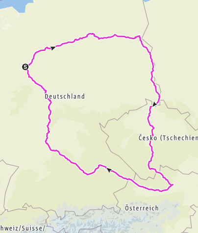 Carte / Tourenplanung am 24. Oktober 2016