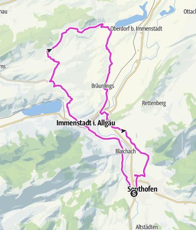 Karte / Rennrad Oberallgäu 12: Hinauf in die Bergstätte