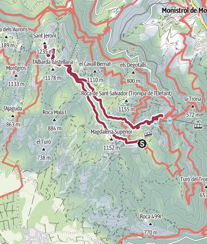 Karte / Im Herzen von Katalonien - Montserrat
