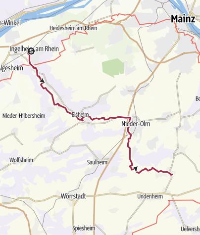 Karte / Selztalwanderung von Ingelheim nach Selzen