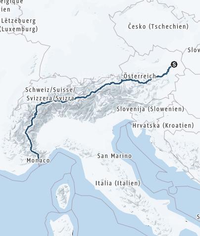 Karte / Transalp Ski - Wien - Nizza