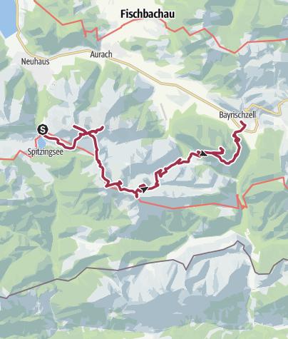 Karte / Gipfelhopping: Spitzingsattel - Bayrischzell