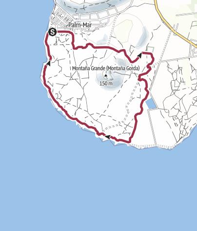 Karte / 1. November 2016 Mit Wolfgang Kieckbusch Leutturm Runde in Palm Mar
