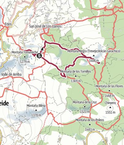 Karte /  2. November 2016 Moittwochswanderung oberhalb Santiago del Teide - Hotel Rural