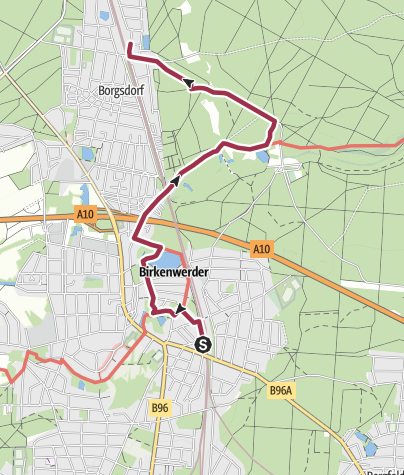 Karte / Von Birkenwerder durchs Briesetal nach Borgsdorf