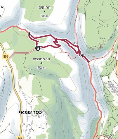 Mapa / Nahal Amud