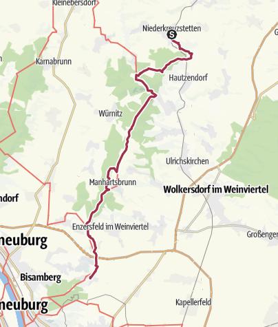 Karte / NLW Kreutal Niederkreuzstetten - Hagenbrunn