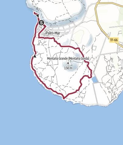 Karte / 7. November 2016 El Cielo Montagswanderung - Leuchtturm Palm Mar