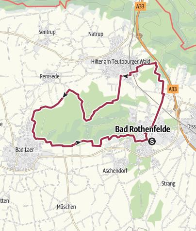 Map / B+H-2016-11-10: Bad Rothenfelde - Hilter - Bad Laer