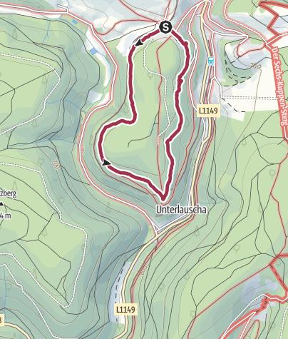 Karte / Kleine Rundwanderung ums Teufelsholz