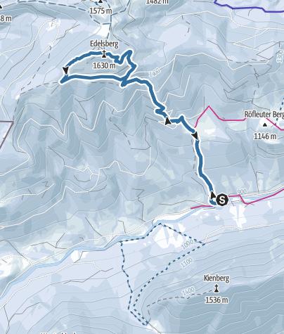 Karte / Edelsberg über Gunthütte Vilstal