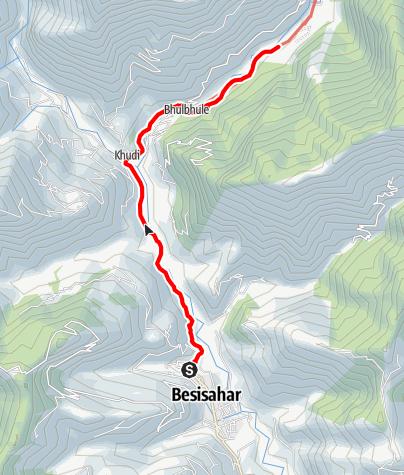 Map / Annapurna cicuit - Besisahar to Ngadi