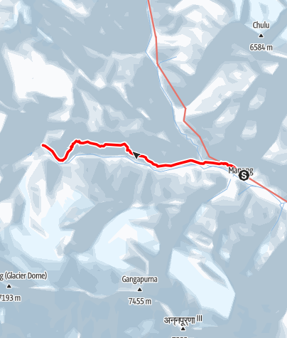 Map / Annapurna circuit - Manang - Tilicho Base Camp trek