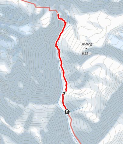 Map / Annapurna circuit - Yak Kharka - Thorong La - High Camp