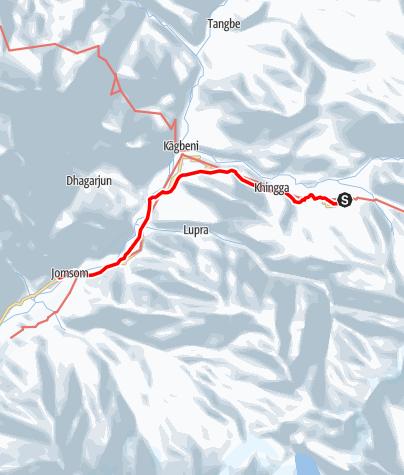 Map / Annapurna circuit - Muktinath - Jomsom trek