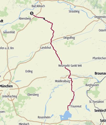 Karte / Tourenplanung am 13. November 2016