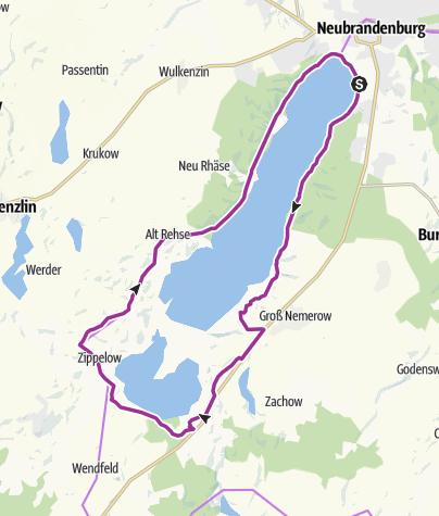 Radweg Mecklenburgische Seenplatte Karte.Tollensesee Radrundweg Radtour Outdooractive Com