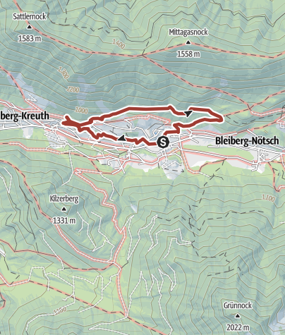 Karte / Stollenwanderweg Bad Bleiberg