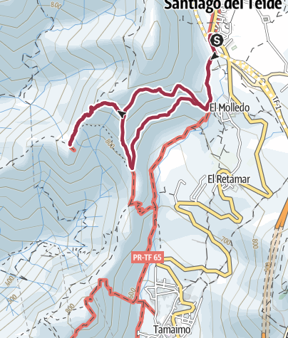 Karte / 16. November 2016 Mittwochswanderung Risco Blanco ab Santiago del Teide