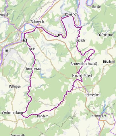 Karte / Ruwer Hochwald Hermeskeil Mosel und zurück