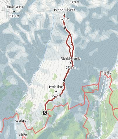 Karte / Mulhacen